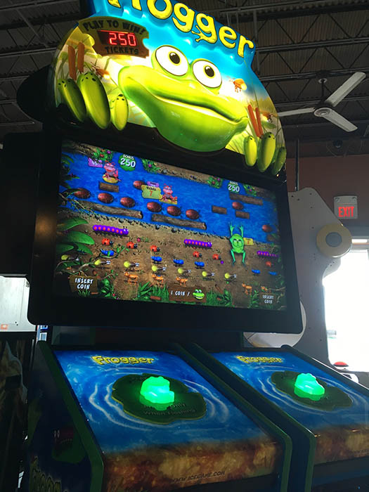 A modern redemption game version of Frogger.