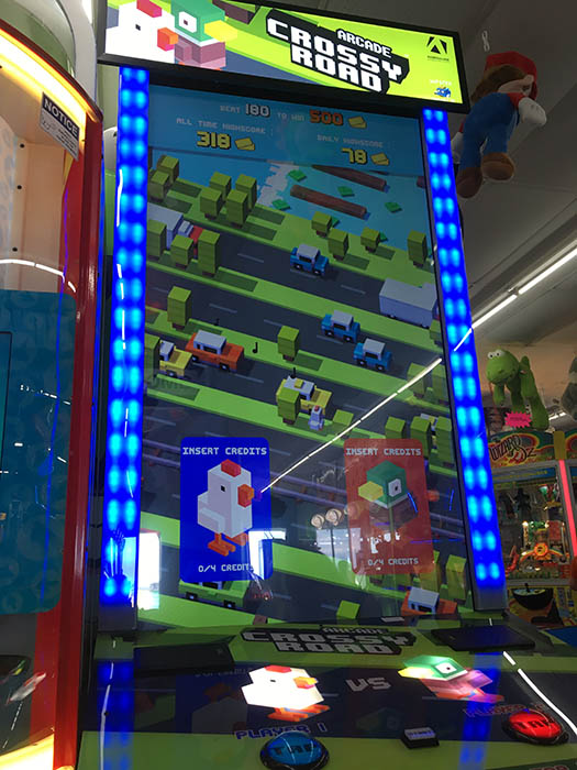 Arcade version of Crossy Road.